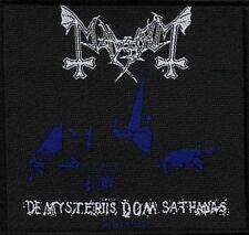 MAYHEM - DE MYSTERIIS DOM SATHANAS - WOVEN PATCH - BRAND NEW - MUSIC 2367
