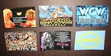 "6 ""RARE"" Wrestling Fridge Magnets WCW Sting,WARRIOR,Hulk Hogan,MACHO MAN,wwe,wwf"