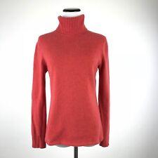 Geneva Pure Cashmere Red Turtleneck Womens Sweater - Small S