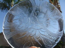 "Arcoroc USA Canterbury Pattern Crocus Clear Glass, 2 Dinner Plates, 10 3/4"""