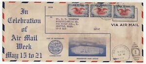 USA 1938 AIR MAIL WEEK letterfront