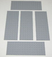 LEGO LOT OF 6 NEW LIGHT BLUISH GREY 8 X 8 DOT PLATES PLATFORMS PIECES