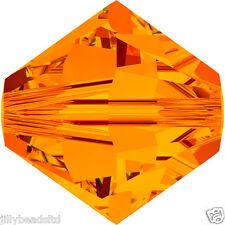 Swarovski 5328 Xilion Bicone Beads  4mm : Tangerine (50 beads)