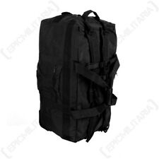 Duffle Bag with Wheels - Black Large Holdall 118L Litres Rucksack Travel Bag New