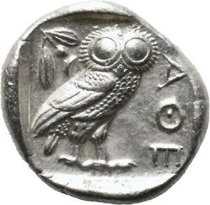 DIONYSOS Attika Athen AR-Tetradrachme Eule  #MF 1153