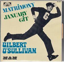 "45 T SP GILBERT O' SULLIVAN ""MATRIMONY"""