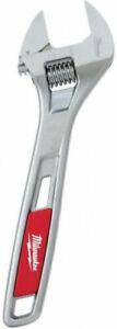Milwaukee Parallel Jaw Ergonomic Handle Adjustable Wrench 48-22-7408 8-Inch