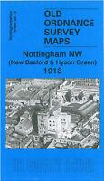 OLD ORDNANCE SURVEY MAP NOTTINGHAM NEW BASFORD HYSON GREEN 1913 RADFORD ROAD