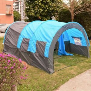Tunnel Tent 8 Person Huge Family House Outdoor Camping Party Rainproof 4 Season