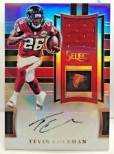 Tevin Coleman 2017 Panini Select SILVER Prizm Refractor Jersey Autograph Auto/99