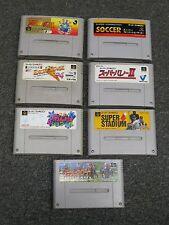 LOT 7 Super Famicom (soccer/volleyball/skiing/baseball/horse racing) Japan games