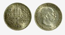 pcc2128_97)  Franz Joseph I 1 Korona 1915 AG Toned