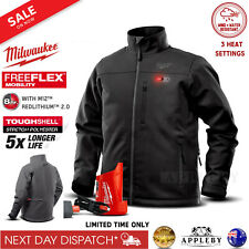 Milwaukee 12V Heated Jacket M12 Tough Shell 3 Heat Settings Black Grey Charger