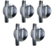 (5) Stove Burner Knob Replacement for Jenn Air 74007918 Chrome Oven Control Knob