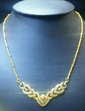 Diamond Necklace Set with Matching Earrings
