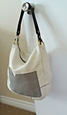 NEW***orYANY leather Shoulder HANDBAG cream and gray!!