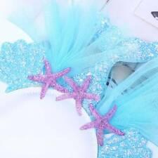 Child party Rainbow Mermaid Headband Hair  Princess Mermaid Gauze Head Buckle M