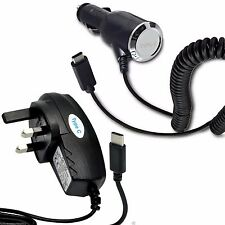 Top Quality UK 3 Pin Mains Socket+In Car Mobile Phone Device Charger✔Type C