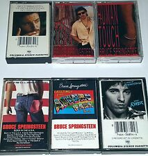 BRUCE SPRINGSTEEN 6 TAPE CASSETTE LOT THE RIVER LUCKY TOWN HUMAN TOUCH BORN USA
