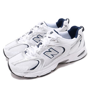 New Balance 530 v2 Retro White Silver Navy Men Unisex Running Shoes MR530SG D