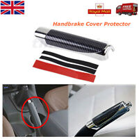 1Pcs Car Universal Carbon Fiber Style  Handle Hand Break Protect Cover Accessory