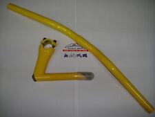 Manubrio in alluminio fixed bike 580mm colore GIALLO + Piantone manubrio Fixed