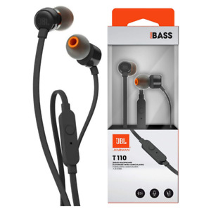 JBL TUNE T110 WIRED IN-EAR HEADPHONES WITH PURE BASS SOUND & TANGLE-FREE CABLE