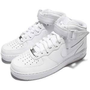 Nike Air Force 1 MID 07 AF1 Triple White Men Casual Shoes Sneakers 315123-111