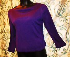 RALPH LAUREN Purple Top Blouse Shirt Sweater Womens XL Petite 87% Silk 13% Wool
