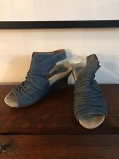 Earthies Womens Wedge Heels in Moroccan Blue - Size 7 - Bonaire Too
