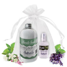 Bath Salts & Pillow Spray Gift Set Ylang Ylang Mandarin Eucalyptus Frankincense