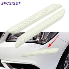 2pcs Car Guard Bumper Protect Stripes Anti Collision Crash Bar Cover Trim Parts