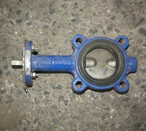 """Dura Lugged 2.5"""" inch DN65 65mm Butterfly Valve CF8M DISC EPDM Seat Iron Body"""