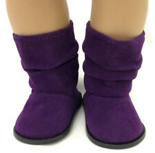 "Purple Slouch Boots Doll Shoes made to fit 18"" American Girl Doll Clothes"