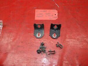 79-81 FORD MUSTANG FRONT BUMPER UPPER HEADER PANEL METAL MOUNTING BRACKET SET 2
