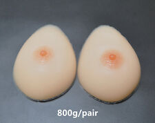 800g/pair Silicone Breast Forms Fake Breast False Breast C Cup