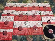 Dischi 78 giri Italfon Anni 40/50 (Lotto 14 Dischi)-old 78 rpm records