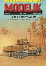 "Modelik 07/98 - Panzer ""Valentine"" MK IV     1 : 25"
