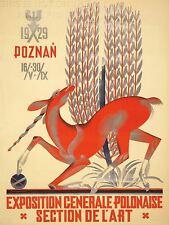 Impresión arte cartel anuncio evento nacional polaco Exposition Unicorn trigo nofl1634