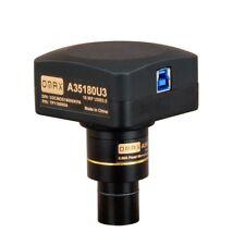 Omax Usb 3.0 18mp Super Velocidad Microscopio Cámara Con Software + diapositiva de calibración