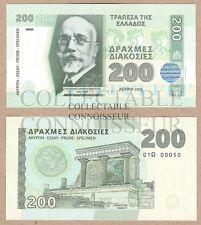 Greece 200 Drachma 2015 UNC NEUF NEU SPECIMEN Test Note Hologram Banknote