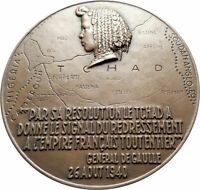 1944 FRENCH EQUATORIAL AFRICA & CHAD Governor General Felix Eboue Medal i80594