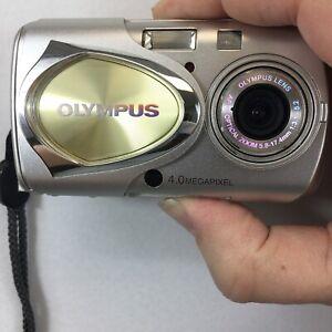 Olympus Stylus 400 Digital 4.1MP Digital Camera - Silver - Untested + Cable