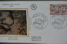 ENVELOPPE PREMIER JOUR SOIE 1979 GROTTE DE NIAUX ARIEGE