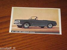 FIAT 1500 CABRIOLET=FIGURINA=1965/66=ALBUM FIGURINE AUTOMOBILI D'OGGI