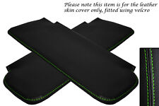 GREEN STITCHING FITS CORVETTE 1968-1976 2X SUN VISORS LEATHER COVERS ONLY