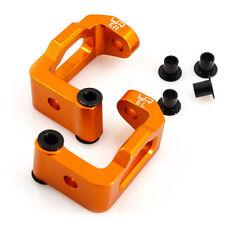 Orange alloy C hub with 6 degree of castor for HPI Sprint 2 1:10 RC car