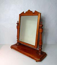 Miroir inclinable en bois à poser pour coiffeuse vintage