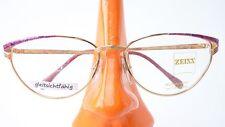 Damen Brille Fassung mit Butterflyform Zeiss Metall glasses gold pink Gr M