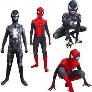 Child Kids Boys Spider-Man Far From Home Spiderman Zentai Venom Cosplay Costume